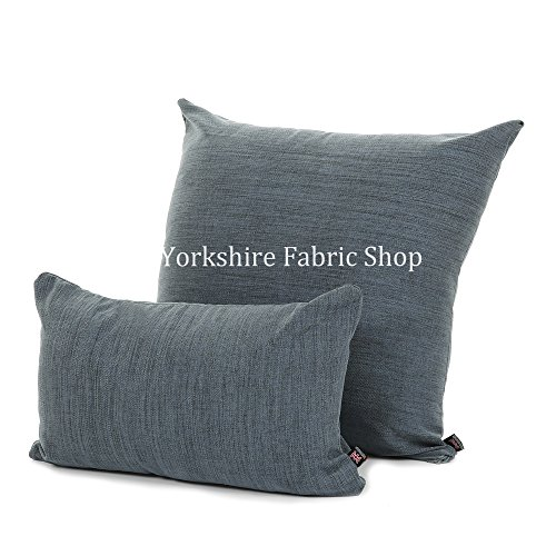 "Yorkshire Fabric Shop British Hecho a Mano Suave Lana con Textura para cojín con Relleno Insertar (Forma Rectangular,–50cm x 30cm–19""x 12""), Azul Marino"
