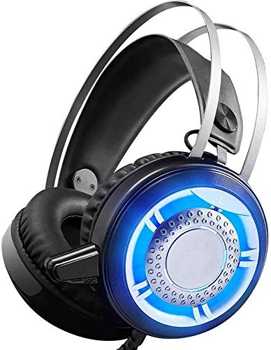 Auriculares sobre oreja, auriculares inalámbricos Bluetooth 4.1 de siete colores LED sobre la oreja con, nombre del color: rojo (color: rojo) (color: negro) 1yess (color: negro) xuwuhz