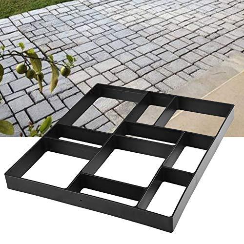 Walk Path Maker, Pathmate Stone Mold Paving Pavement Concrete Molds Reusable Stepping Stone Paver Walk Way DIY Path Garden Yard Patio Molds(Square 18 x 16 x 1.6 inch)