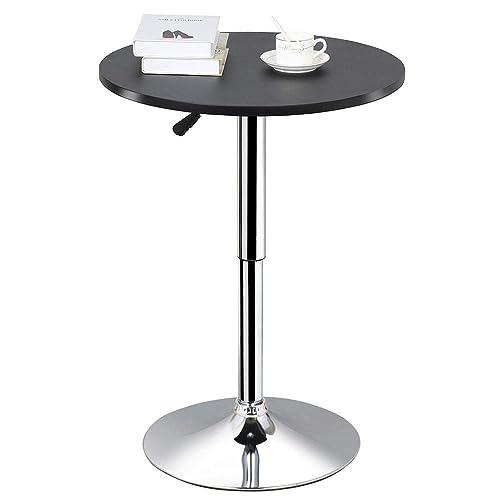 Tall bar table Rectangular Topeakmart Round Pub Table Bar Height Mdf Top Adjustable 360 Swivel Bar Tables Tall Cocktail Tables Amazoncom Tall Bar Tables Amazoncom