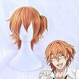 Yarichin chienne-bu Kyousuke Yaguchi perruque Orange Cosplay Halloween cheveux synthétiques avec puce queue de cheval + bonnet de perruque