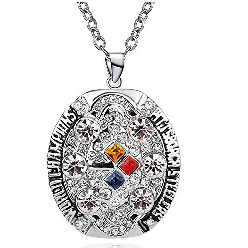 AJZYX 2008 Pittsburgh Steelers Super Bowl Necklace Pendant Replica Souvenir Gift for Mens