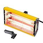 Portable Infrared Paint Curing Lamp 2000w Handheld Infrared Paint Baking Lamp Shortwave Infrared Heating Light Car Body Repair Tool (110V)