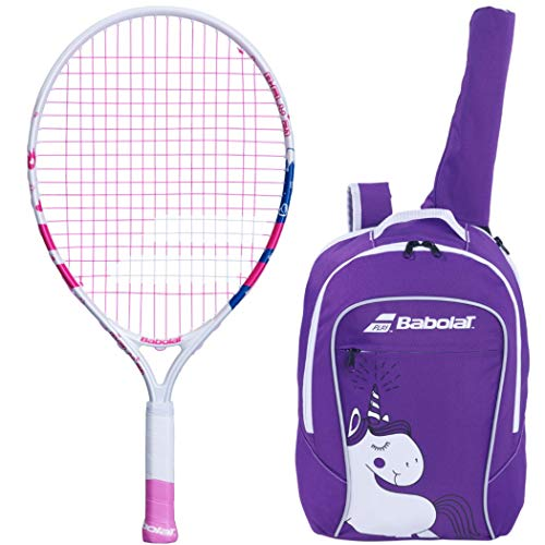 "Babolat B'Fly 21"" Inch Child's Tennis Racquet/Racket Kit or Set Bundled with a Purple Junior Tennis Backpack (Best Back to School Gift for Boys and Girls)"
