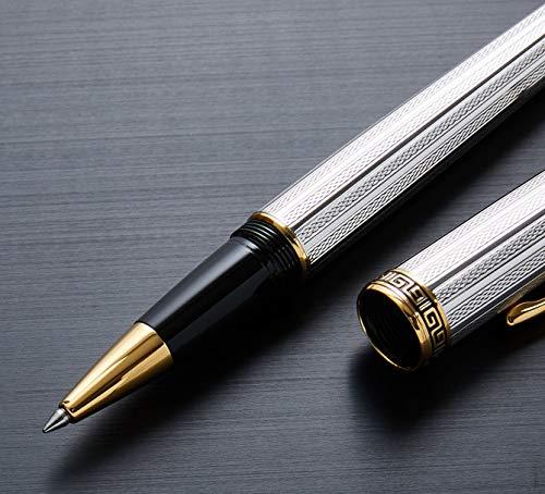 Raffinata penna roller Xezo diamantato e platino 18K placcato oro con cappuccio a vite, edizione limitata di 500(incognito Platinum R)
