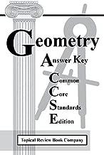 Geometry Workbook Common Core Standards Edition Answer Key