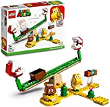 Set di espansione Scivolo della Pianta Piranha (71365) percreareunadivertentesfidasuscivoloealtalena e ampliare il Percorsodibase Avventure con Mario LEGO