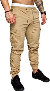 Men Sweatpants Joggers Pants with Cargo Pockets