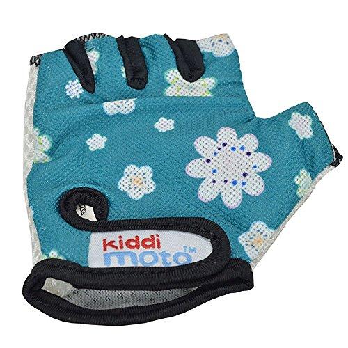 Kiddimoto Kinder Fahrradhandschuhe Fingerlose für Jungen und Mädchen / Fahrrad Handschuhe / Bike Kinder Handschuhe - Fleur - S (2,5 Jahre)