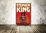Cartel de metal con texto en inglés'Carrie Stephen King' y'Horror Movie Carrie On Metal Carrie'