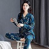 JJHR - Pijama para hombre, diseño floral