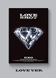 K-POP EXO [LOVE ver.] Vol.5 Repackage Love Shot 5th Album Music CD+ Official Poster + Booklet + Photo Card + Store Gift