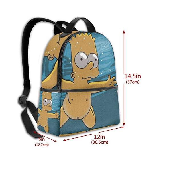 51t8K6SNPAL. SS600  - Anime Cartoon Simpsons - Mochila para Estudiantes, Unisex, diseño de Dibujos Animados, 14,5 x 30,5 x 12,7 cm