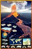 Educational - Bildung Vulkane - Volcano Bildungsposter