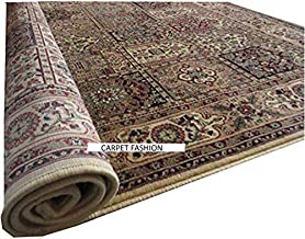 Carpets Kashmiri Design Persian Carved Runner Carpet for Your Hall & Living Room with 1 inch Thickness 2 X 6 Feet (60x180 cm) Ivory Multi Carpet Fashion