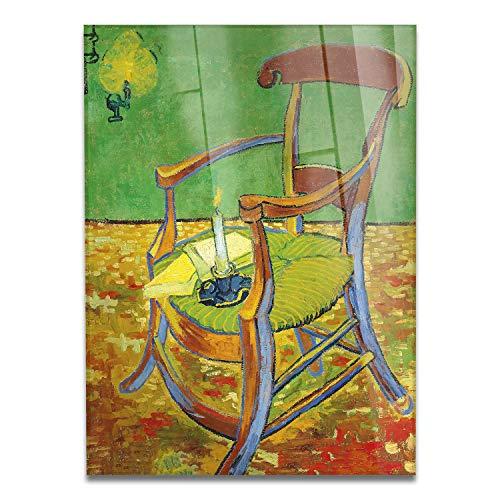 Giallobus - Schilderij - Vincent Van Gogh - Gauguin's stoel - bedrukking op plexiglas acryl - klaar om op te hangen - Diverse formaten - 50x70 cm