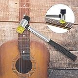 Martillo de trastes, cabezas de goma y plástico Herramienta multifuncional Mazo de goma para guitarras para ukeleles para mandolinas para proyectos de decoración de interiores para bajos