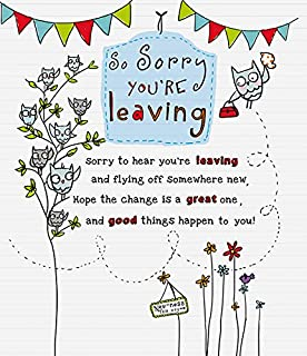 So Sorry You're Leaving - Goodbye and Good Luck you'll be missed! Greeting Card