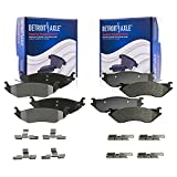 Detroit Axle - All Front and Rear Ceramic Brake Pads w/Hardware for 2003 - 2006 Dodge Durango -...