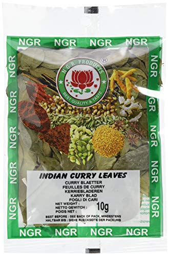 Ngr Curryblätter, ganz, 10g (1 x 10 g Packung)