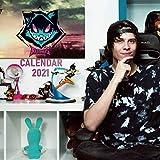Rubius: 12 - Month Calendar 2021 - Mini size 7''x7'' - Twitch Calendar