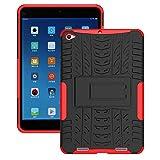 FullProtecter Xiaomi Mi Pad 2 Hülle,Bumper Cover Schutz Tasche Handyhülle Schutzhülle Silikon TPU+PC Hardcase für Xiaomi Mi Pad 2(Rot)