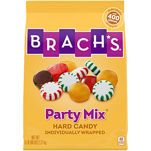 Brachs Party Mix Individually Wrapped Hard Candies Variety Pack, 5 Pound Bulk Candy Bag