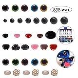 Ojos de Seguridad Amigurumi,Plástico de Colores Ojos de Seguridad y Narices,Arandelas para Muñeca,Oj...