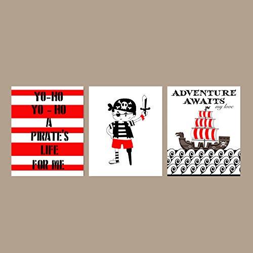 Yo Ho Pirate Life For Me Children Wall Art Decor Adventure Awaits My Love Prints