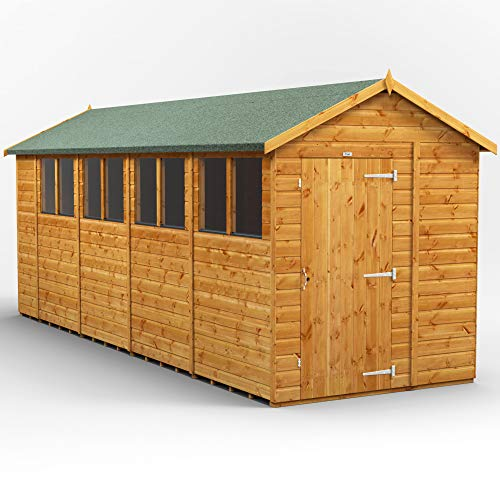 POWER | 18x6 Apex Wooden Garden Shed | Size 18 x 6 sheds | Super Fast 2-3 Day Delivery or Pick your own day