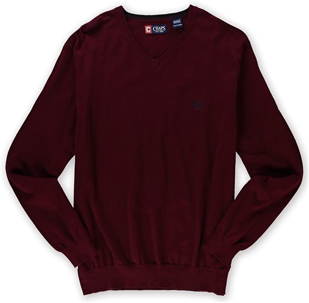 Chaps Mens North Coast Pullover Sweater, Red, XX-Large