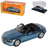 B-M-W Z3 E36/7 Roadster Cabrio Blau 1995-2002 1/43 Minichamps Maxichamps Modell Auto
