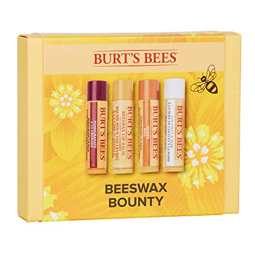 Burt s Bees Set De Regalo Bounty Con 4 Bálsamos Labiales Hidratantes De Cera De Abeja 0.069 g