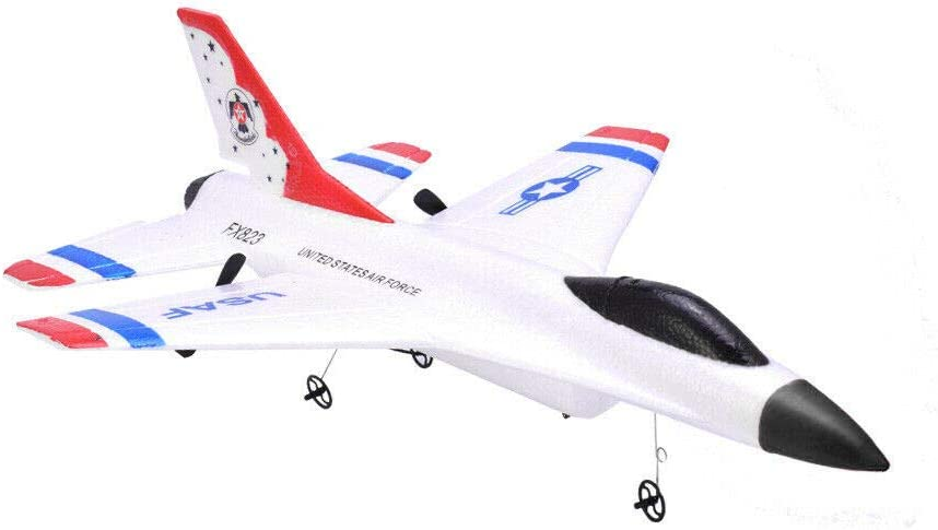 Remote Control Airplane,2.4GHz Radio Control Aircraft with Built in Gyro,RC Plane for Kids Boys Adult Beginner White