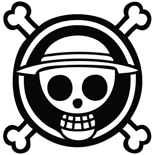 One Piece Anime Logo - Cartoon Decal Vinyl Removable Decorative Sticker for Wall, Car, Ipad, Macbook, Laptop, Bike, Helmet, Small Appliances, Music Instruments, Motorcycle, Suitcase