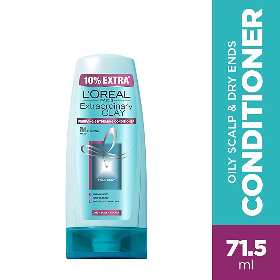 手当瞳連想L'Oreal Paris Extraordinary Clay Conditioner, 65ml (With 10% Extra) (Loreal Ship From India)