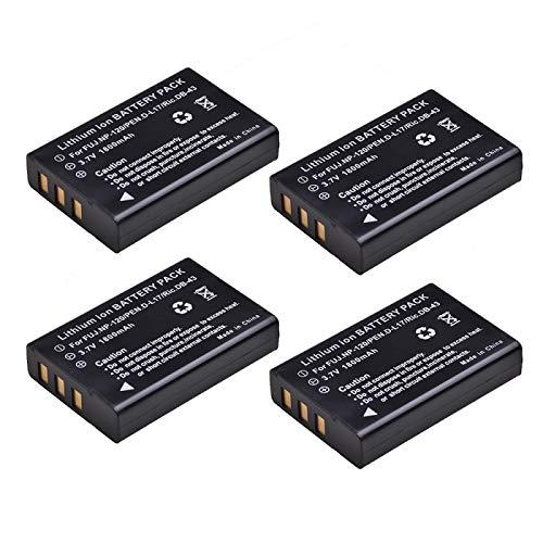 Grehod NP-120 NP120 FNP120 DL17 D-Li7 DB-43 BP-1500s es Adecuado para la batería Fujifilm F10 F11 M603 x MX4 MX550 RICOH GX8 300G 500G. 4Batteries