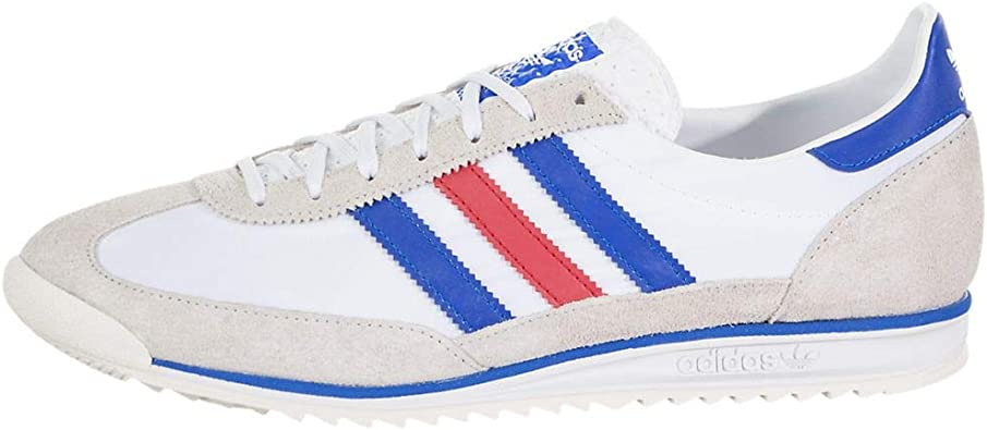 adidas Mens Sl 72 Lace Up Sneakers Shoes Casual - Beige,Blue,White
