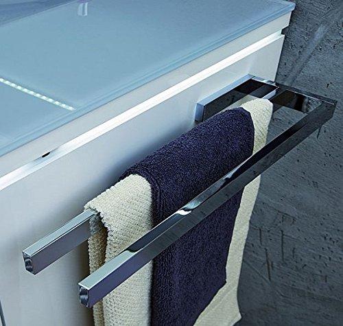 PURIS PROKIRA Handtuchhalter/Handtuchstange/ PZ11281 / Chrom glänzend / 39x3x11cm