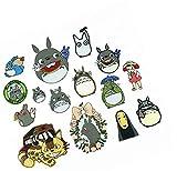 EPRHY Parche Bordado Totoro para Coser, aplicación de Gato de Dibujos Animados,Adhesivo de Tela, Tela Creativa, para Planchar la Ropa, Accesorios para Jeans,Chaquetas, Mochilas, 15 Piezas