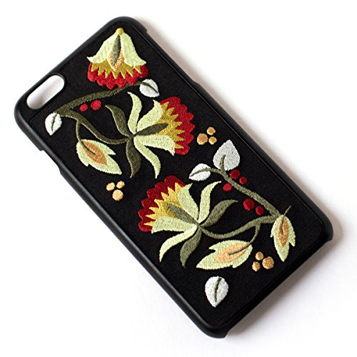Tech Candy Better Off Thread Embroidered iPhone 6 Plus 6+ iPhone 7 Plus 7+ iPhone 8 Plus 8+ Phone Case Protective Durable Pretty Designer Girls Teenagers Womens Shock Absorbing Beautiful Floral Gorgeo
