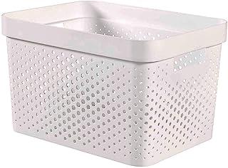 CURVER | Bac de rangement Infinity 17L , Blanc, 35,5 x 26,2 x 21,9 cm, Plastique recyclé