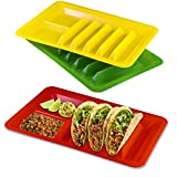 3 Pack Taco Holder, Colorful Taco Plates (Assorted Colors)