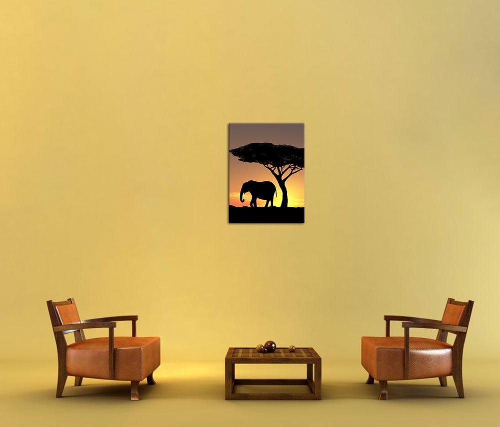 Bilderdepot24 Cuadros en Lienzo Familia Elefantes - 40 x 50 cm ...