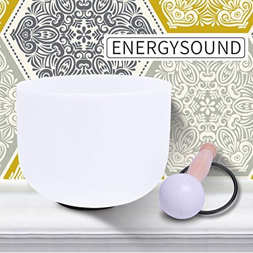 ENERGYSOUND 432 Hz Tono perfecto Frosted B Crown Chakra Cuarzo de cristal de cuarzo Cantando 20 cm ---- Terapia de yoga Curación con sonido