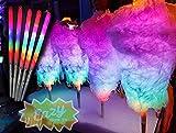 8 modos de luz LED de algodón conos de caramelo 75 unidades LED palos para fiestas Glow Sticks