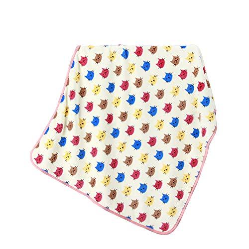 ALLAIBB Bébé Enfants Couverture Polaire Swaddle Wrap Serviette pour Pram Cot 75 * 100cm Size 100 * 75 (Beige Multicolored Cat)