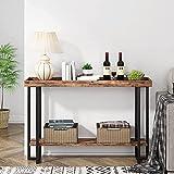 Tribesigns Konsolentische 47,24 Zoll, industrieller Eingangstisch Sofatisch mit Schutzleiste, Pflanztisch Foyertisch für Eingangsbereich, Flur, Flur, Kaffee, Bar, Küche