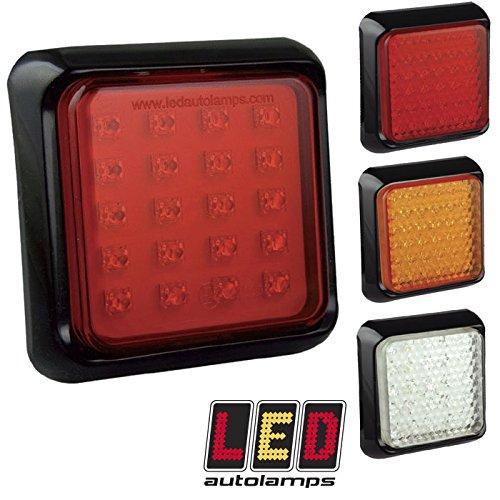 Feu antibrouillard LED multivolt 12 V/24 V pour remorque/caravane