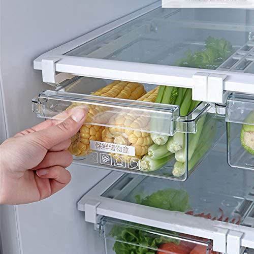 Cajón organizador para frigorífico, contenedor de basura, alimentos y frutas, transparente